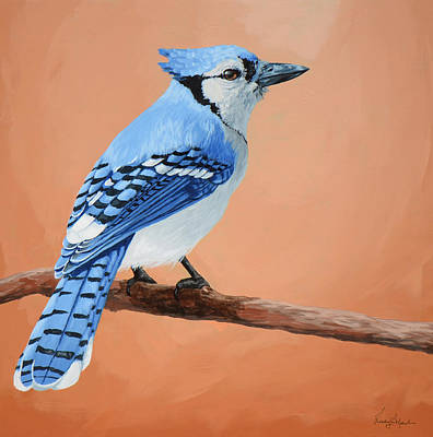Blue Jay Poster by Lesley Alexander