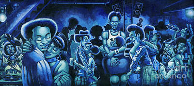 Blue Lights In The Basment Poster by Keith Shepherd