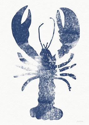 Blue Lobster- Art By Linda Woods Poster by Linda Woods