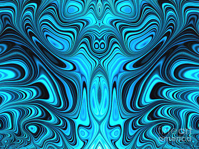 Blue Mekon Poster by John Edwards