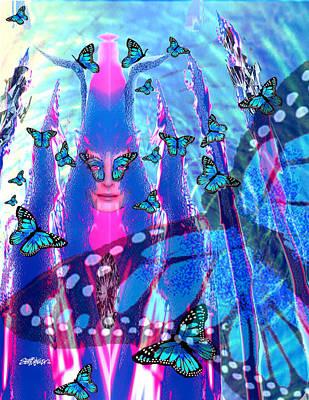 Blue Monarch Mistress Poster by Seth Weaver
