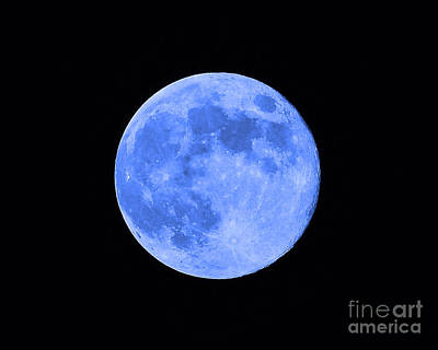 Blue Moon Close Up Poster by Al Powell Photography USA