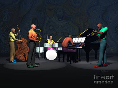 Blue Note Quintet 1 Poster by Walter Oliver Neal