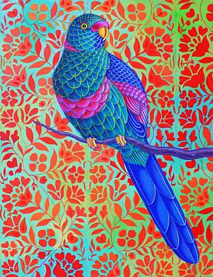 Blue Parrot Poster by Jane Tattersfield