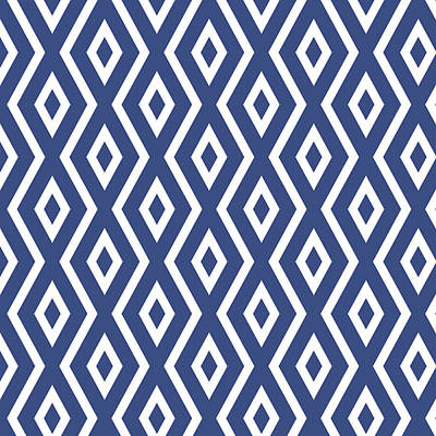 Blue Pattern Poster by Christina Rollo