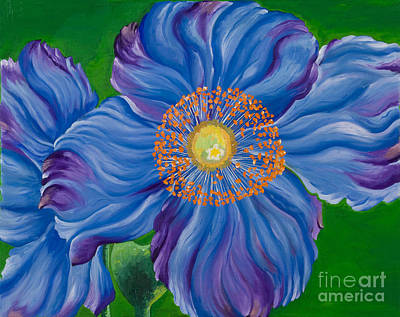 Blue Poppies Poster by Sweta Prasad