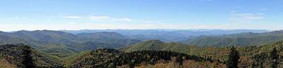 Blue Ridge Mountains Panorama Poster by Dan Sproul