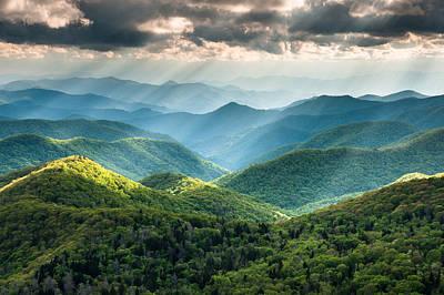 Blue Ridge Southern Appalachian Mountain Light Show Poster by Mark VanDyke