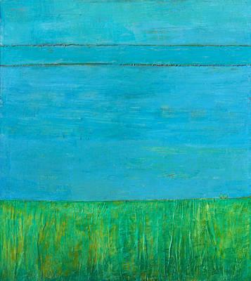 Blue Space Poster by Habib Ayat