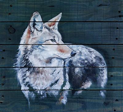 Blue Varmint Poster by Shaila Yovan Tenorio