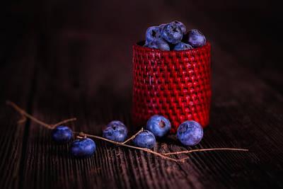 Blueberry Delight Poster by Tom Mc Nemar