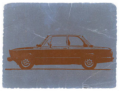 Bmw 2002 Orange Poster by Naxart Studio
