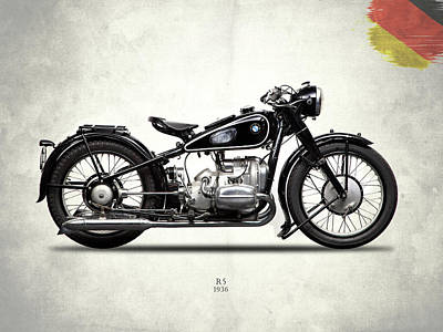 Bmw R5 1936 Poster by Mark Rogan