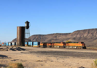 Bnsf 5050 Yucca Az Poster by Troy Montemayor
