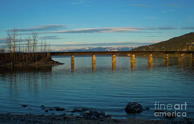 Bnsf Bridge Poster by Idaho Scenic Images Linda Lantzy