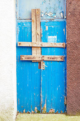 Boarded Up Door Poster by Tom Gowanlock