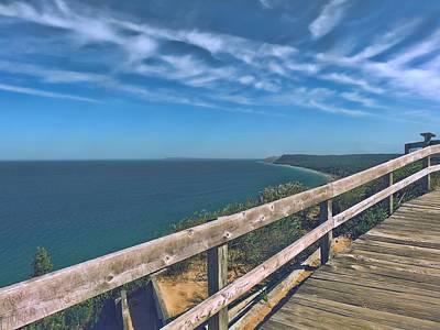 Boardwalk Over Sleeping Bear Dunes Lakeshore Poster by Dan Sproul