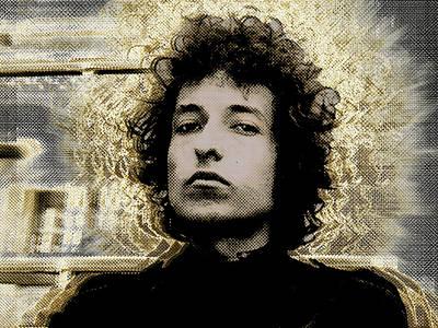 Bob Dylan 2 Poster by Tony Rubino