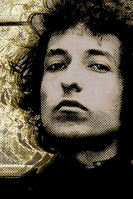 Bob Dylan 2 Vertical Poster by Tony Rubino