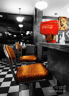 Bobby Sox 50's Diner 2 Poster by Bob Christopher