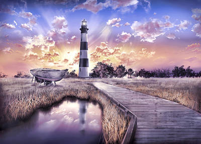 Bodie Island Lighthouse 4 Poster by Bekim Art