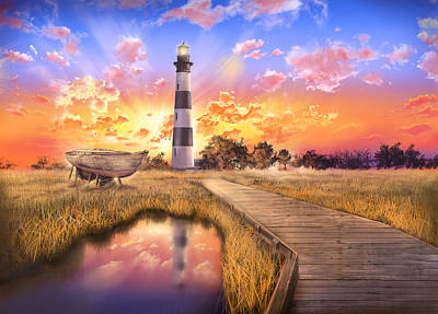 Bodie Island Lighthouse Poster by Bekim Art