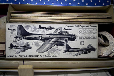 Boeing B 17 Flying Fortresses Build Kit Poster by Thomas Woolworth
