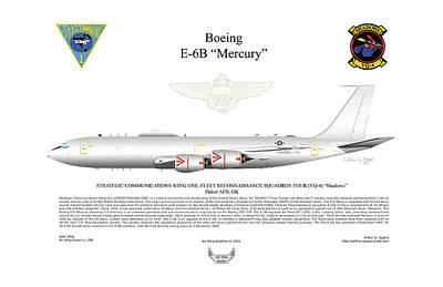 Boeing E-6b Mercury Poster by Arthur Eggers