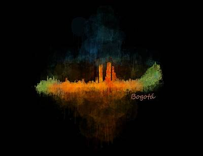 Bogota City Skyline Hq V4 Poster by HQ Photo