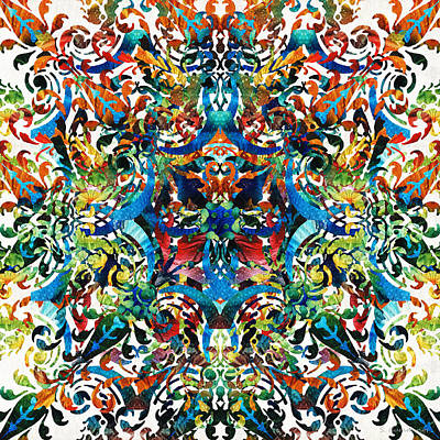 Bold Pattern Art - Color Fusion Design 8 By Sharon Cummings Poster by Sharon Cummings