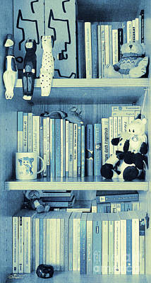 Books Are Blue Today Poster by Jutta Maria Pusl