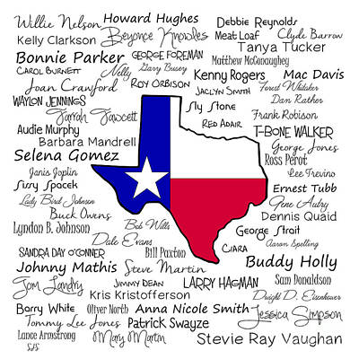 Born In Texas Poster by Shirley Stalter