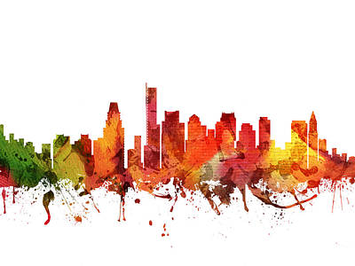 Boston Cityscape 04 Poster by Aged Pixel