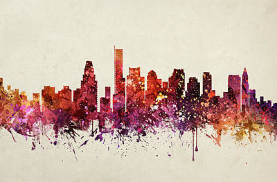 Boston Cityscape 09 Poster by Aged Pixel