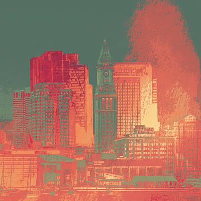 Boston Clock Tower V1 Poster by Brandi Fitzgerald