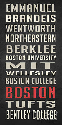 Boston Collegetown Poster by Edward Fielding