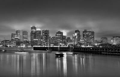 Boston In Black And White Poster by Brendan Reals