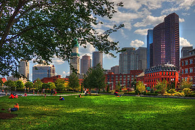 Boston North End Parks - Rose Kennedy Greenway Poster by Joann Vitali