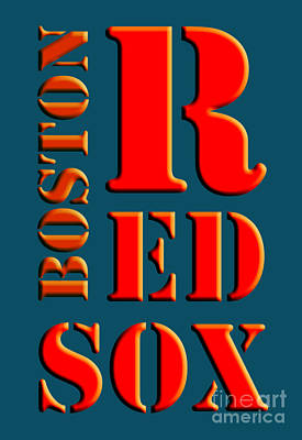 Boston Red Sox Sign Poster by Pablo Franchi
