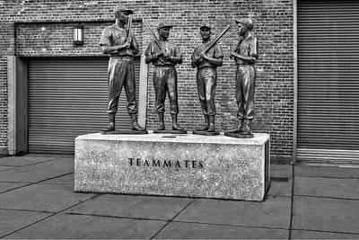Boston Red Sox Teammates Bw Poster by Susan Candelario