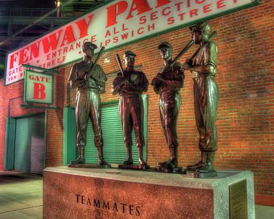 Boston Red Sox Teammates Statue - Fenway Park Poster by Joann Vitali