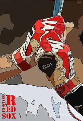 Boston Rex Sox Bat Poster by Pablo Franchi