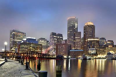 Boston Skyline Poster by Brendan Reals