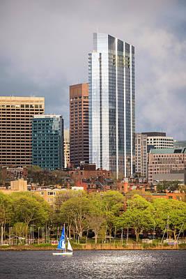 Boston Skyline Skyscraper Boston Ma Charles River Poster by Toby McGuire