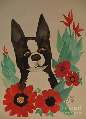 Boston Terrier 16-01 Poster by Maria Urso