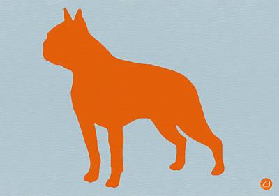 Boston Terrier Orange Poster by Naxart Studio