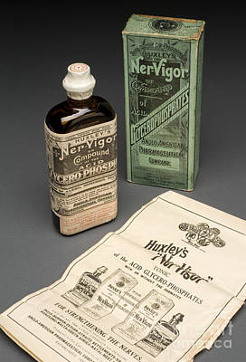 Bottle Of Huxleys Ner-vigor, 19th Poster by Wellcome Images