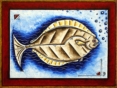 Bottom Of The Sea Creature Original Madart Painting Poster by Megan Duncanson