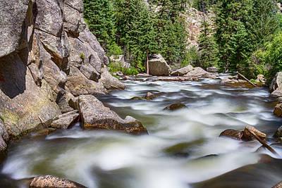 Boulder Canyon - Boulder Creek - Colorado Poster by James BO  Insogna