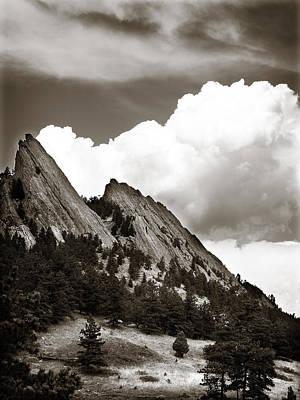 Boulder Flatirons 1 Poster by Marilyn Hunt